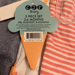 CJP Baby Matching Sets - 3/$10 CJP Baby Girls 3 6 months NWT 3 pc set